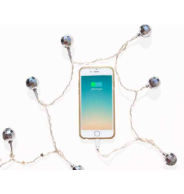 LED iPhone charger - disco ball