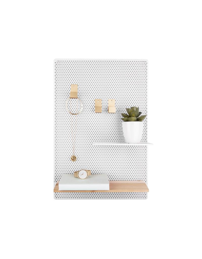 Present Time memo bord - perky mesh (wit)