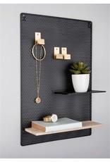 Present Time memo bord - perky mesh (zwart)