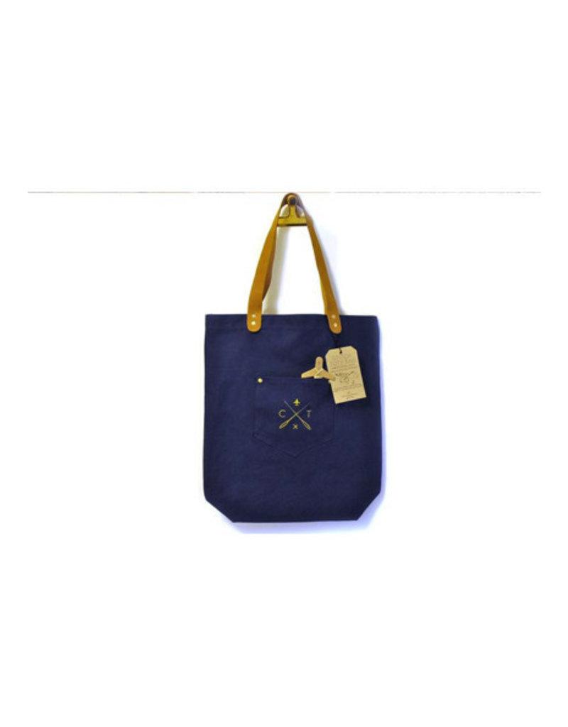 Chasing Threads tote bag - naald en draad (marineblauw)