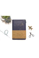 Chasing Threads travel notebook - stitch (navy)