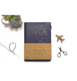 Chasing Threads Reis notitieboek - naald en draad (marineblauw)