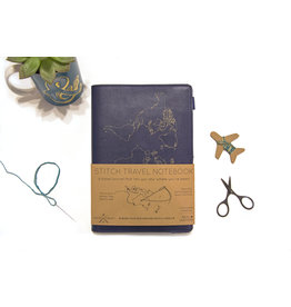 Chasing Threads travel notebook - stitch (navy)