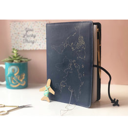 Chasing Threads Reisdagboek - naald en draad (marineblauw)