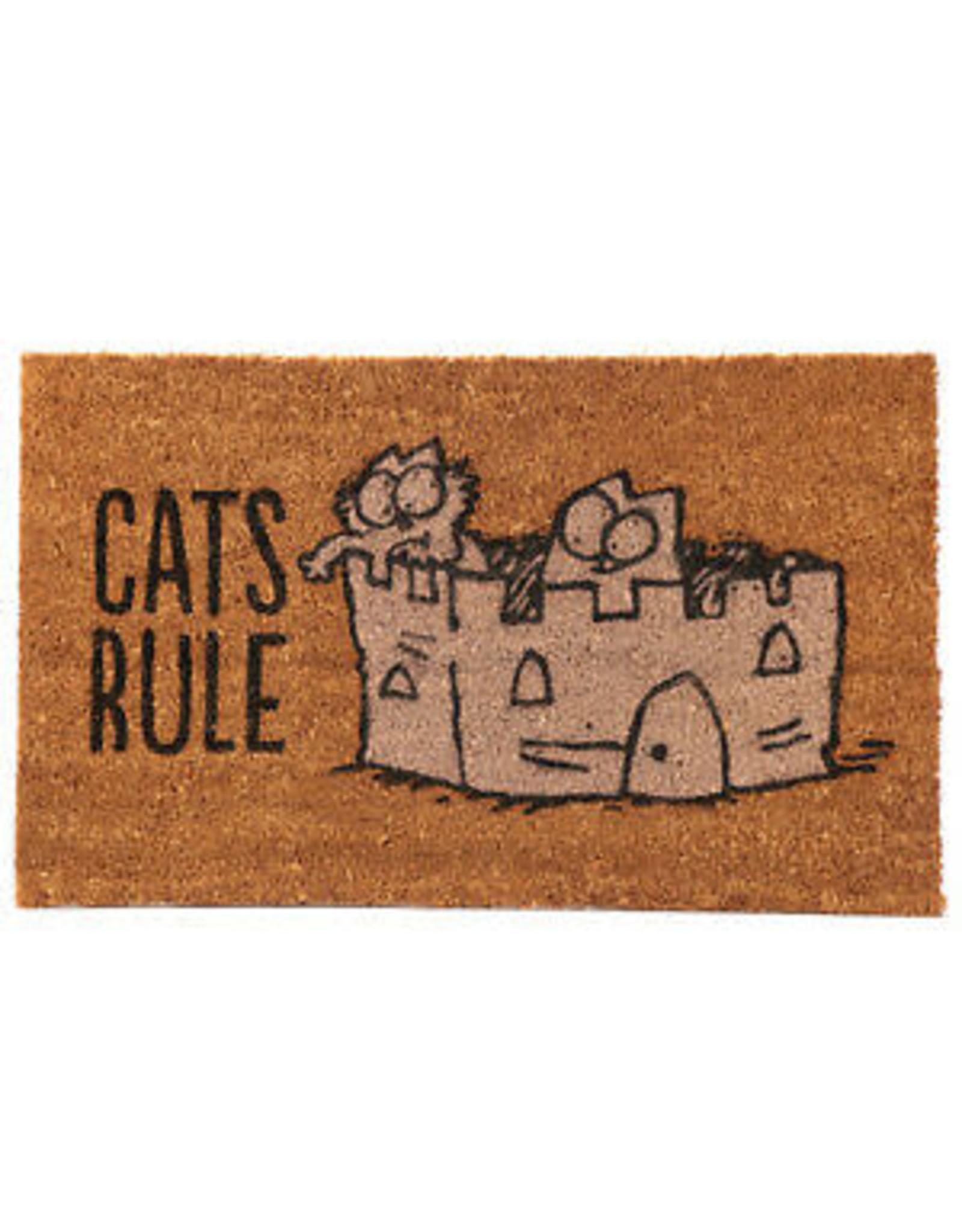 doormat - cats rule