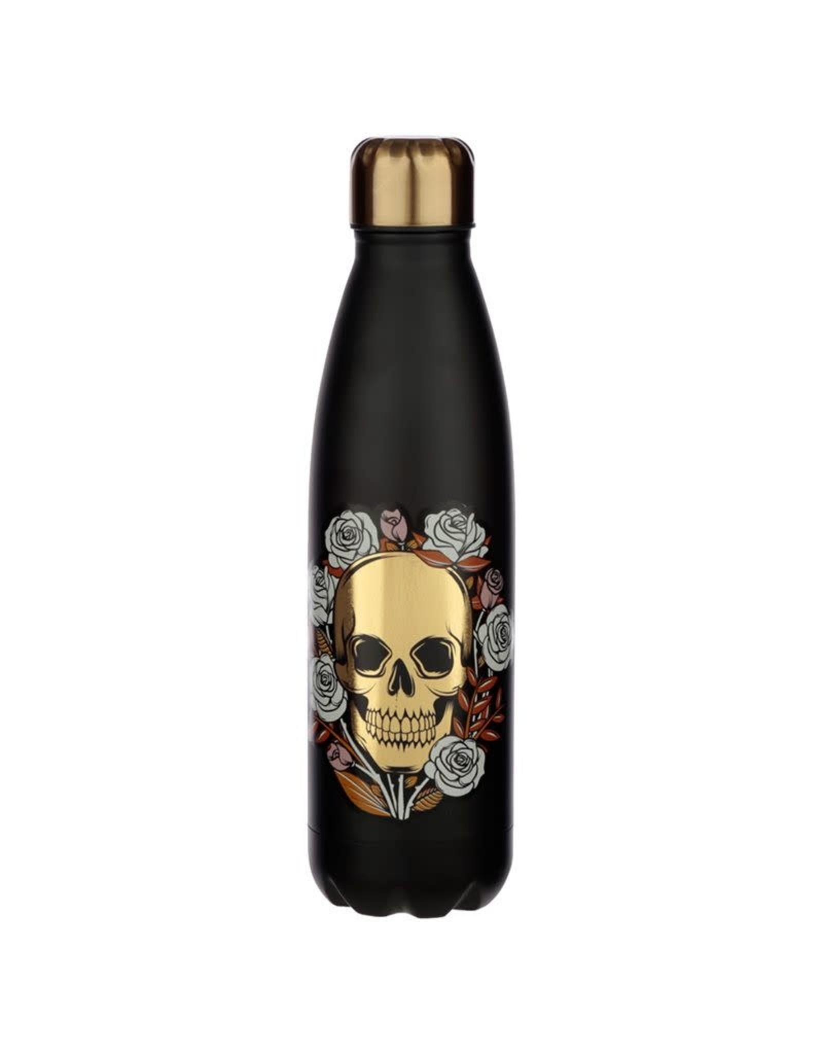 drinking bottle - skull & roses