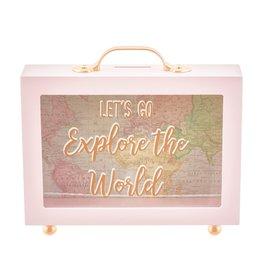 Sass & Belle spaarpot - let's go explore the world