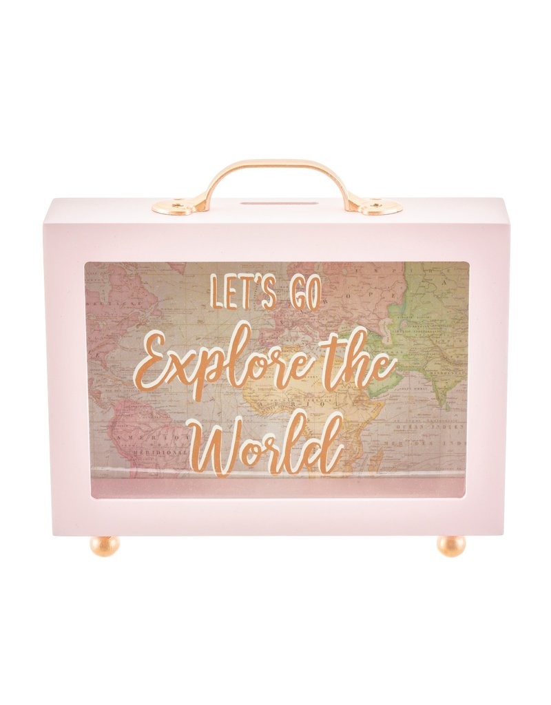 Sass & Belle spaarpot - let's go explore the world