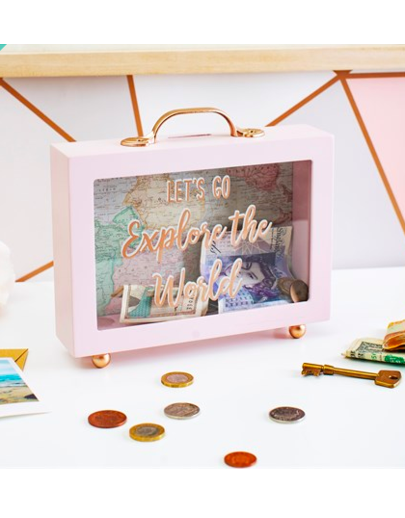 Sass & Belle moneybox - let's go explore the world