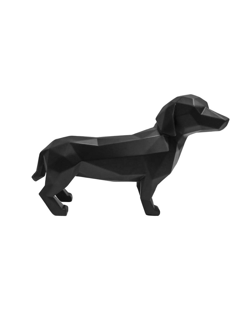 Present Time statue - origami - dog (black)