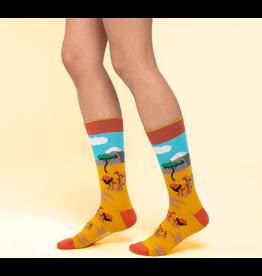 Moustard sokken - leeuw (36 - 40)