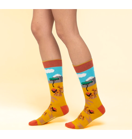 Moustard sokken - leeuw (41 - 46)