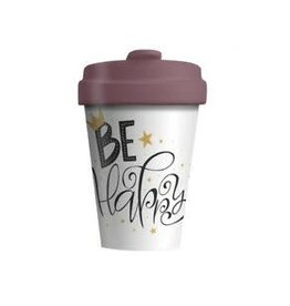 Chic Mic travel mug - be happy