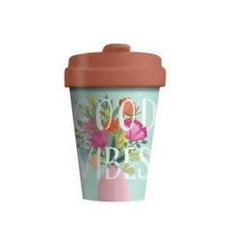 Chic Mic travel mug - good vibes