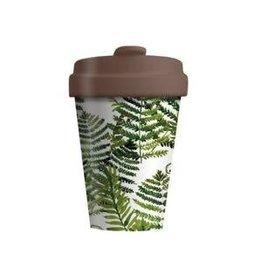 Chic Mic travel mug - green leaves