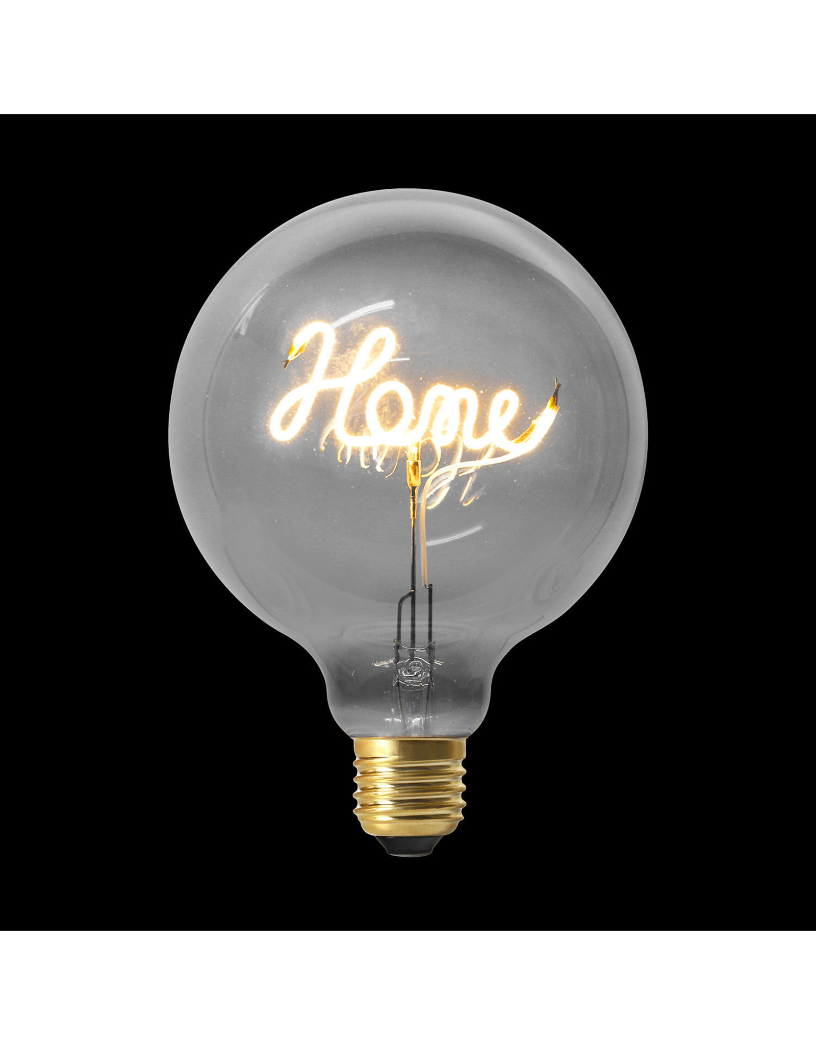"""bulb with text """"home"""""""