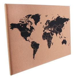 pribord - wereldkaart (kurk)