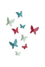 Umbra muur deco - vlinders (gekleurd)