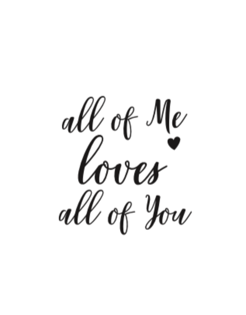 Style De Vie message spoon - all of me loves all of you