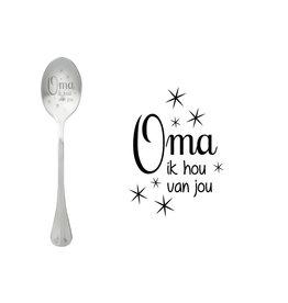 Style De Vie message spoon - oma ik hou van jou