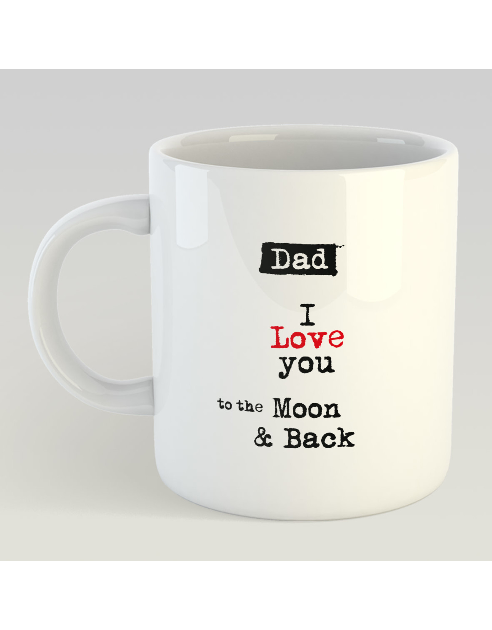 Jelly Jazz mug - dad, I love you to the moon and back