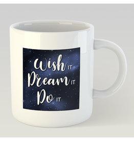 Jelly Jazz mug - wish it, dream it, do it
