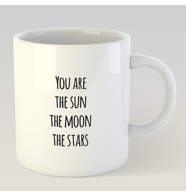 Jelly Jazz mug - you are the sun, the moon, the stars, all that shit.