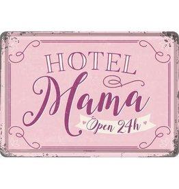 metalen postkaart - hotel mama