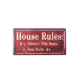 magneet - house rules: mom is the boss...