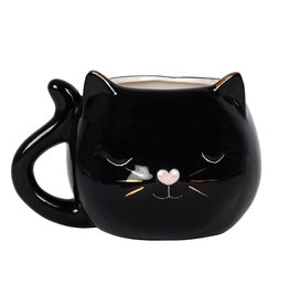 Jones Home & Gift mug - cat face