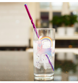 PiuForty+40 reusable straws - unicorn