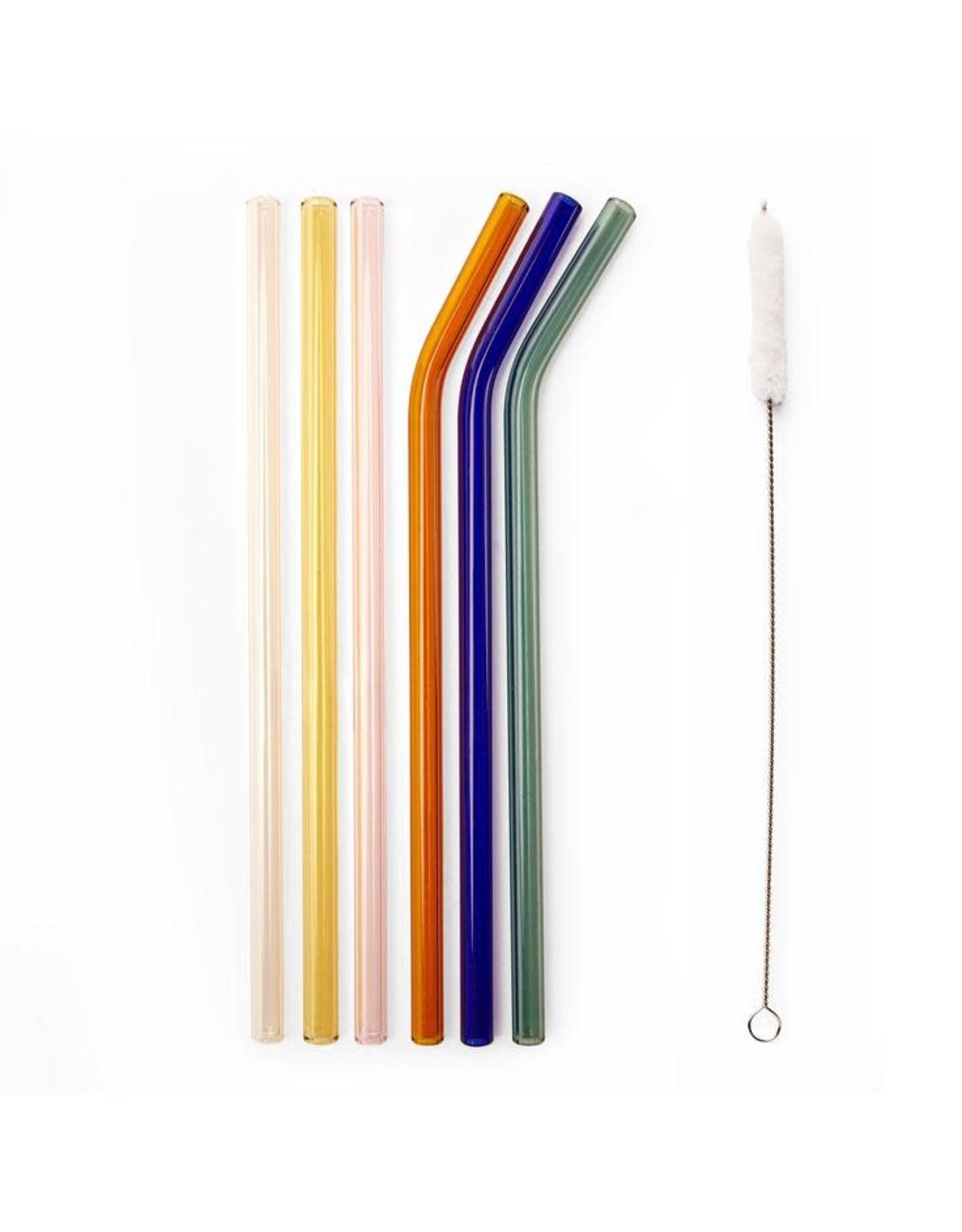 reusable straws - glass (colorful)