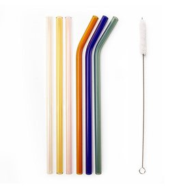 reusable straws - glass (colorful)