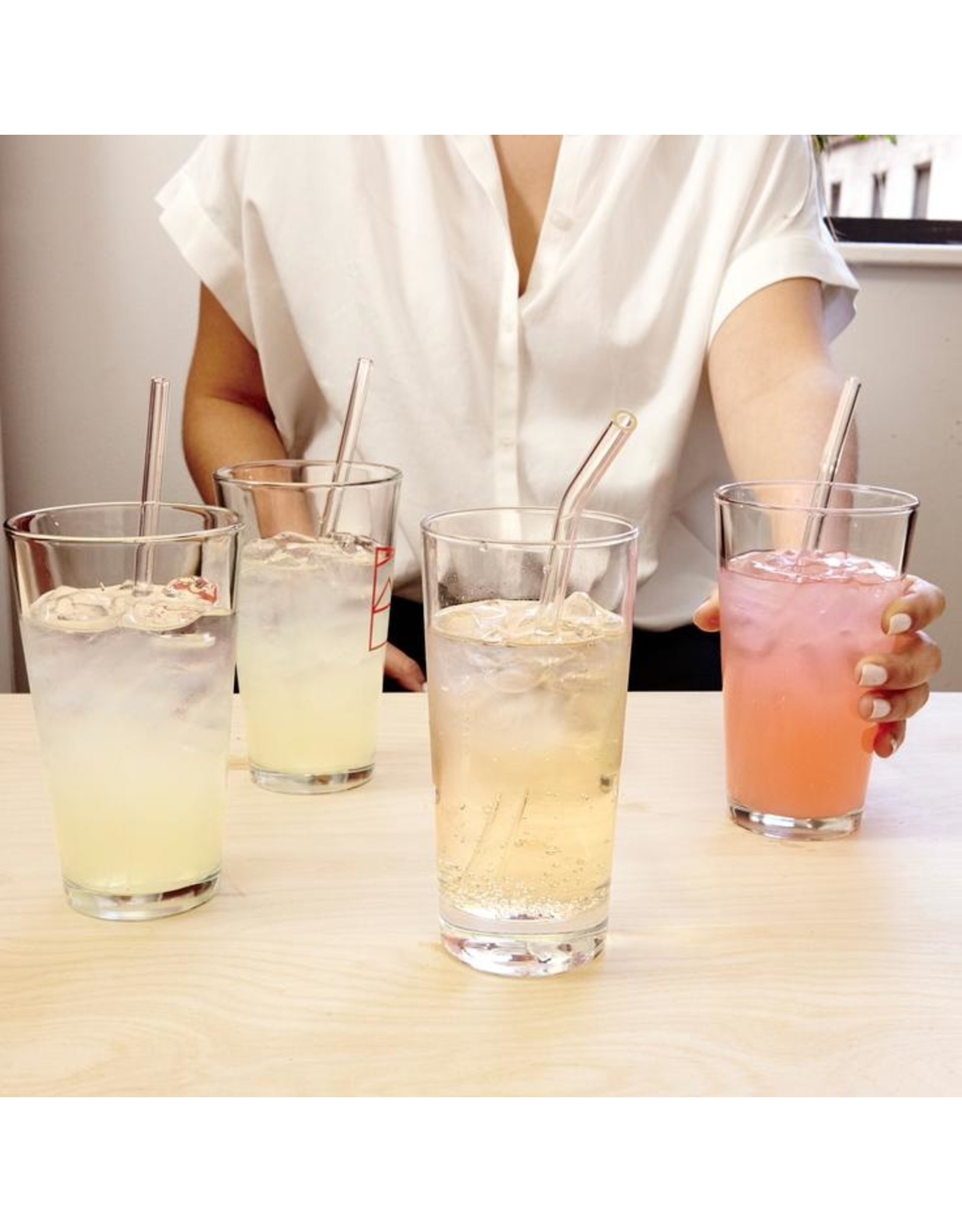 reusable straws - glass (clear)