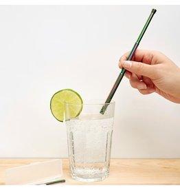 Kikkerland reusable straw - travel (iridescent)