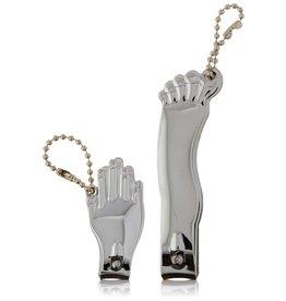 Kikkerland nagelknipper set - hand & voet (chrome)