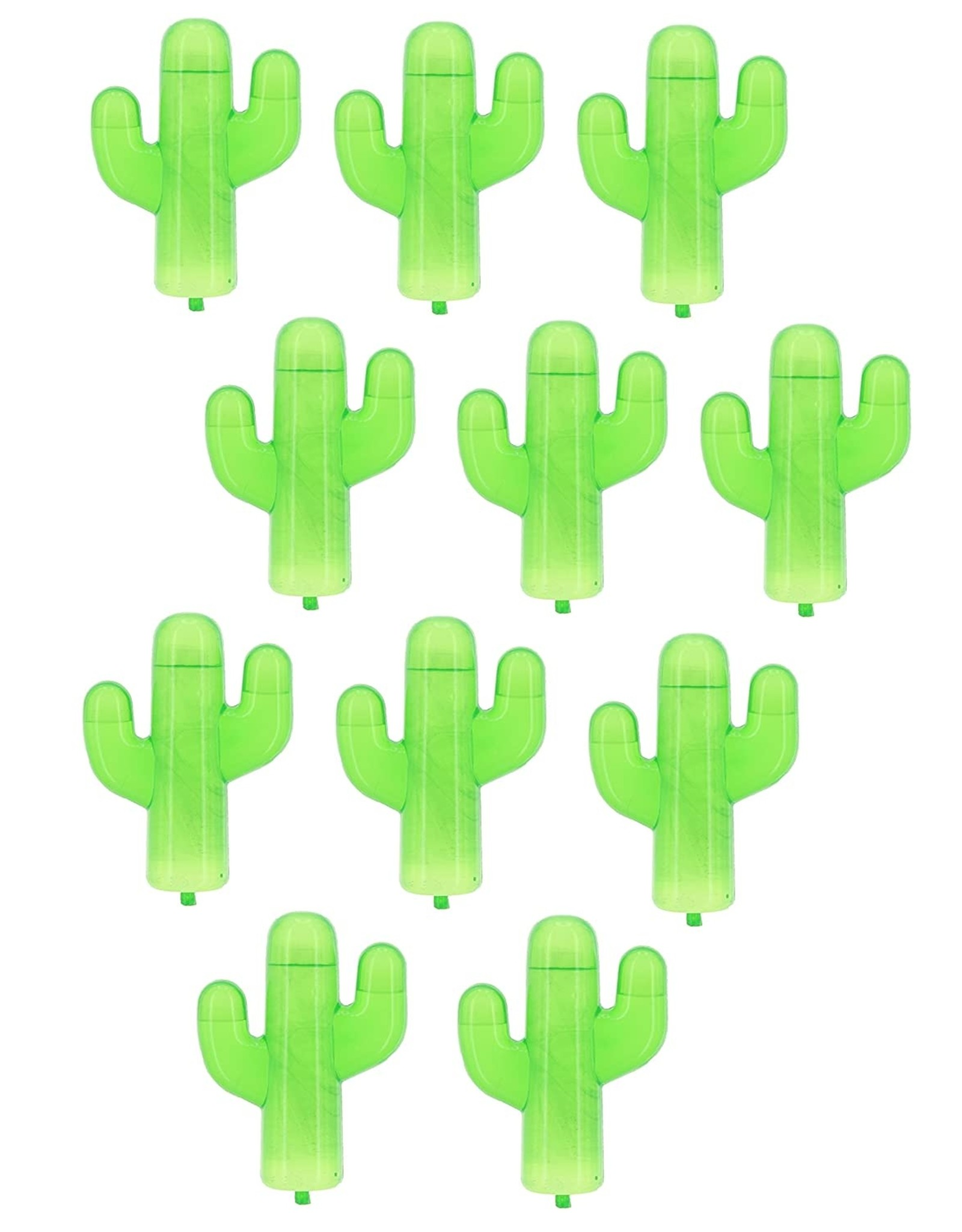 16 reusable ice cubes shaped like a cactus