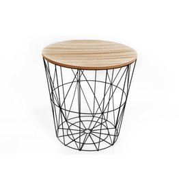 Kikkerland wired top side table (black)