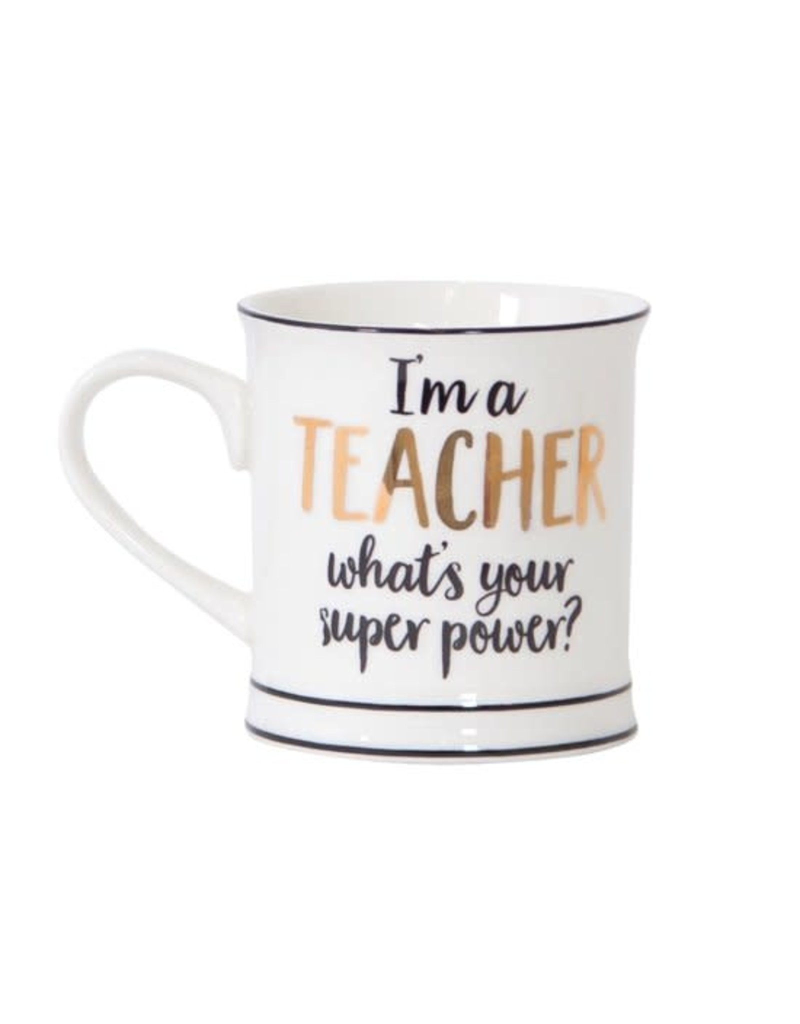"""drinking cup with text """"I'm a teacher"""""""