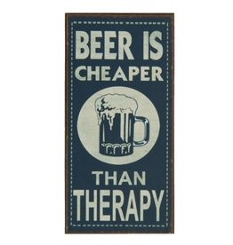 La Finesse magneet - beer is cheaper than therapy