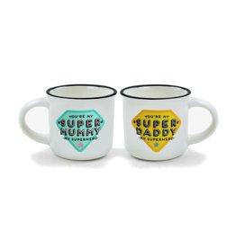 Legami espresso mugs - super mummy & super daddy