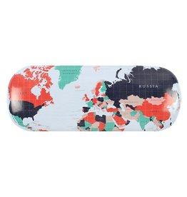 brillendoos - wereldkaart