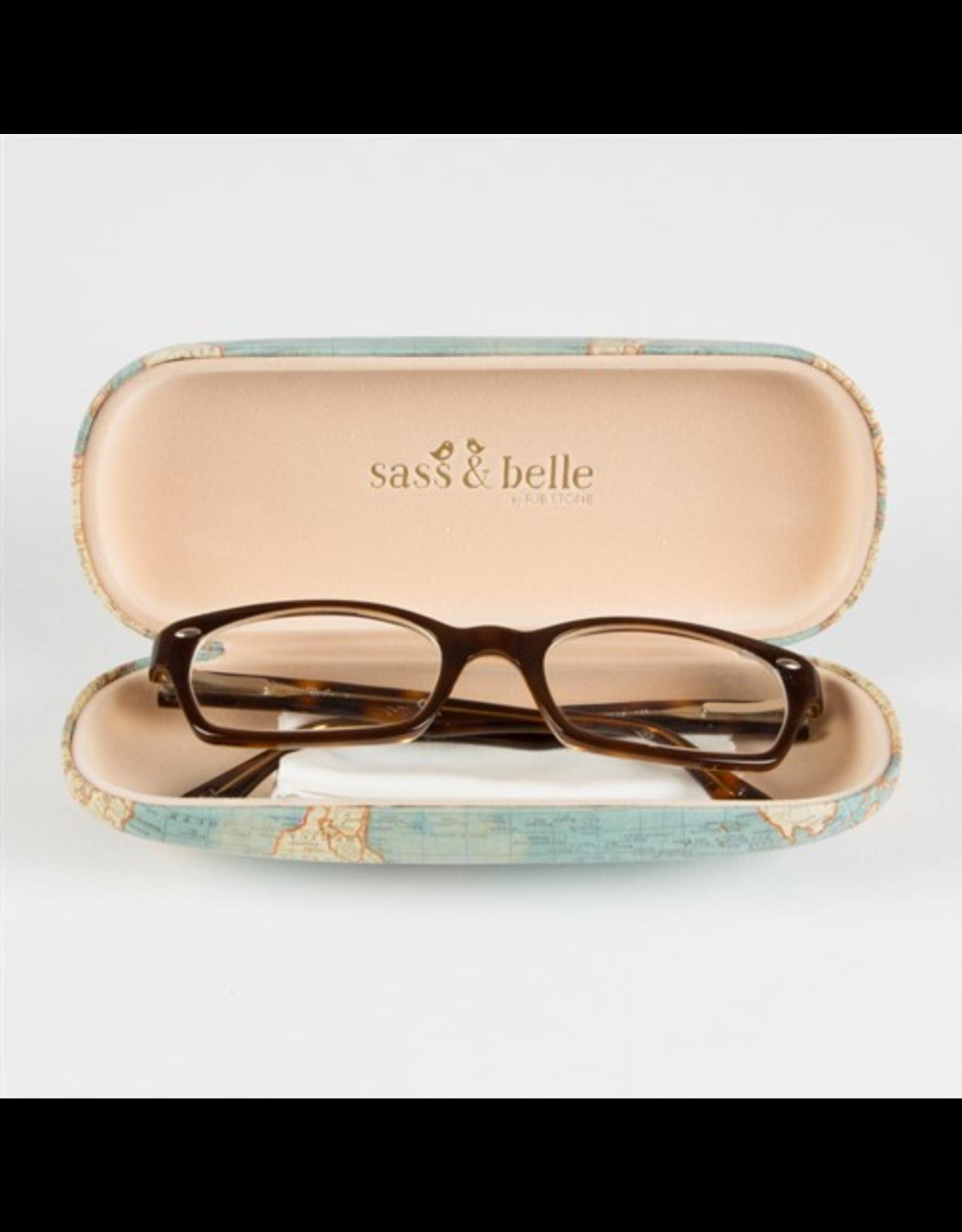 glasses case - vintage map
