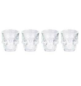 shot glasses - doodshoofd (set van 4)