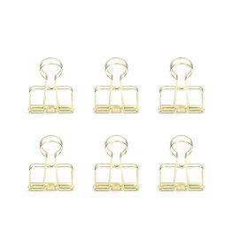 Kikkerland wire clips - gold (6pcs)