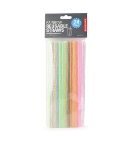 Kikkerland reusable straws - rainbow (24pcs)