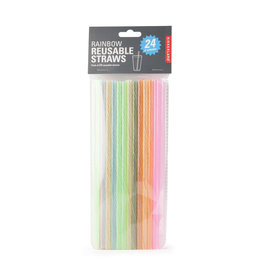reusable straws - rainbow (24pcs)