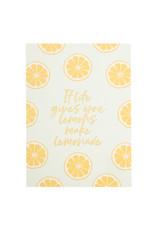 postcard - if life gives you lemons