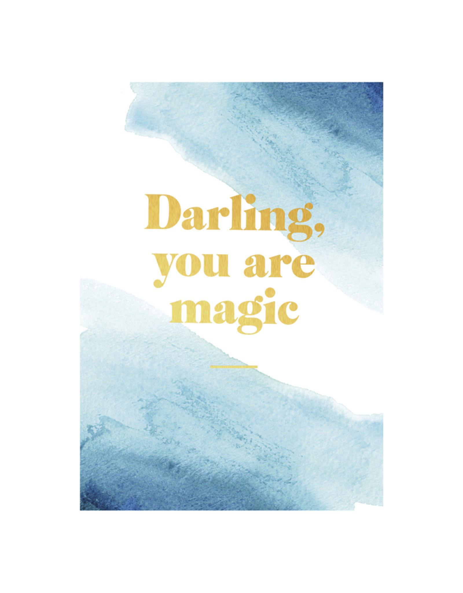 postcard - darling you are magic