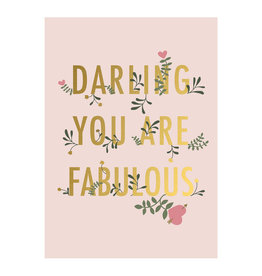 Timi postcard - darling you're fabulous
